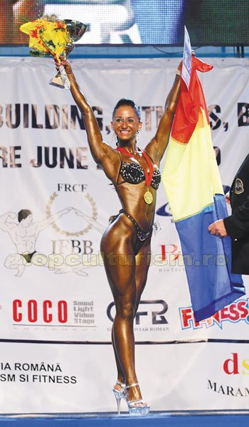 201 Laura Cupsa Campionatul European de bodybuilding, classic bodybuilding, fitness & bodyfitness – Madrid 2011