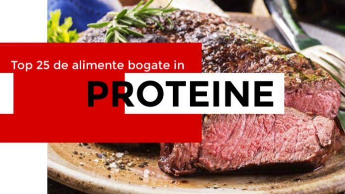 Top 25 de alimente bogate in proteine